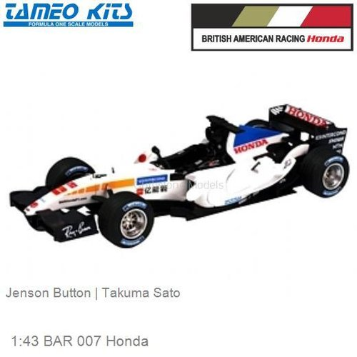 1:43 BAR 007 Honda | Jenson Button (SLK026)