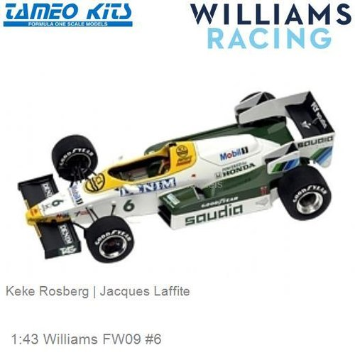 1:43 Williams FW09 #6 | Keke Rosberg (SLK032)
