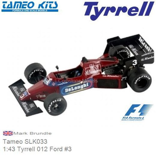 Bouwpakket 1:43 Tyrrell 012 Ford #3 | Mark Brundle (Tameo SLK033)