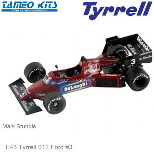 1:43 Tyrrell 012 Ford #3 | Mark Brundle (SLK033)