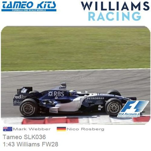 Bouwpakket 1:43 Williams FW28 | Mark Webber (Tameo SLK036)
