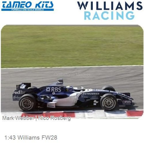 1:43 Williams FW28 | Mark Webber (SLK036)