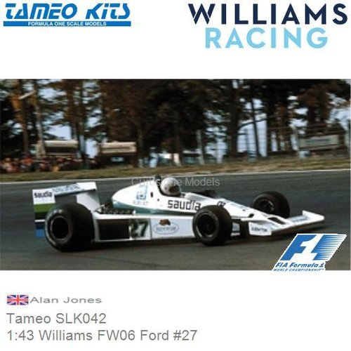 Bouwpakket 1:43 Williams FW06 Ford #27 | Alan Jones (Tameo SLK042)