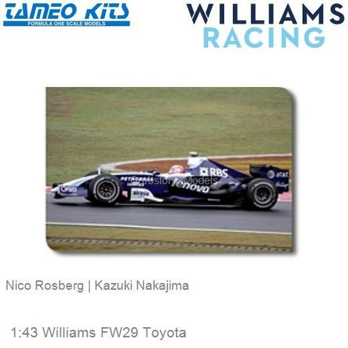 1:43 Williams FW29 Toyota | Nico Rosberg (SLK051)