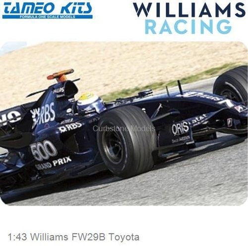 1:43 Williams FW29B Toyota (SLK055)