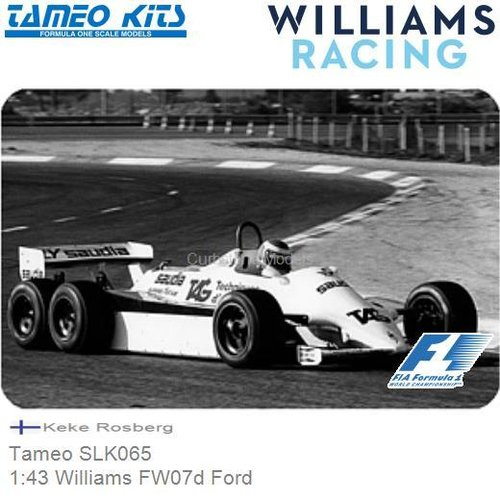 Bouwpakket 1:43 Williams FW07d Ford | Keke Rosberg (Tameo SLK065)