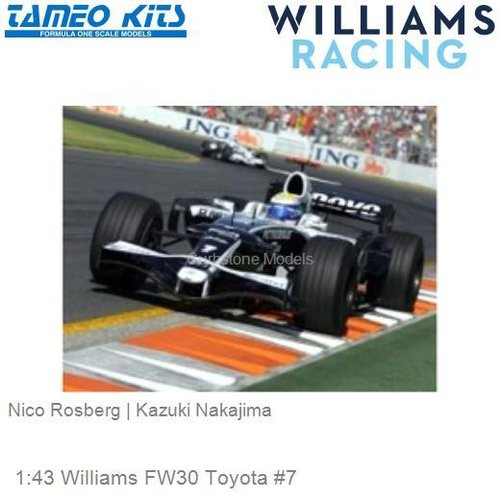 1:43 Williams FW30 Toyota #7 | Nico Rosberg (SLK071)