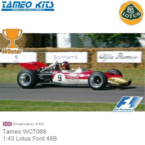 Bouwpakket 1:43 Lotus Ford 49B | Graham Hill (Tameo WCT068)
