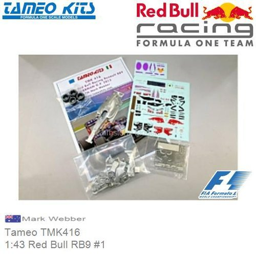 Bouwpakket 1:43 Red Bull RB9 #1 | Mark Webber (Tameo TMK416)