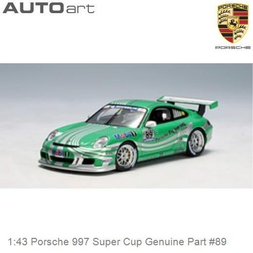 Modelauto 1:43 Porsche 997 Super Cup Genuine Part #89 (Autoart 60671)