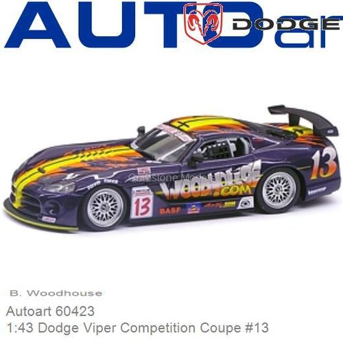 Modelauto 1:43 Dodge Viper Competition Coupe #13 | B. Woodhouse (Autoart 60423)