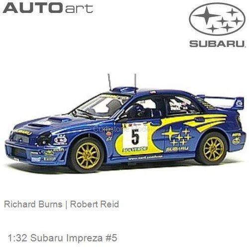Modelauto 1:32 Subaru Impreza #5 | Richard Burns (Autoart 13001)