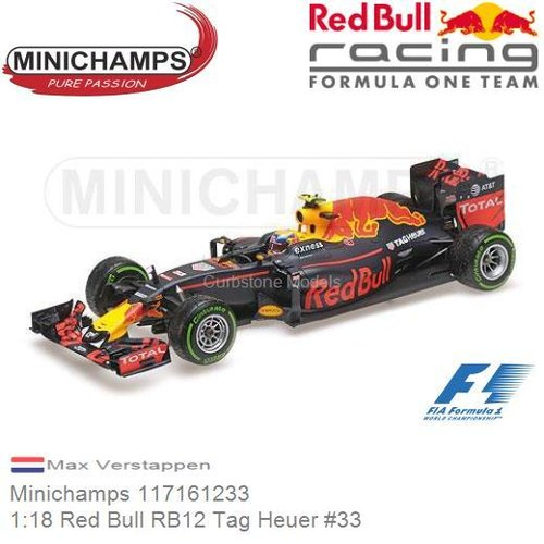 Modellauto 1:18 Red Bull RB12 Tag Heuer #33 | Max Verstappen (Minichamps 117161233)