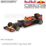 Modelcar 1:43 Red Bull RB12 Tag Heuer #33 | Max Verstappen (Minichamps 417161233)