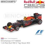 Modellauto 1:43 Red Bull RB12 Tag Heuer #33 | Max Verstappen (Minichamps 417160833)