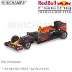 Modelcar 1:43 Red Bull RB12 Tag Heuer #33 | Max Verstappen (Minichamps 417160833)