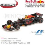Modellauto 1:18 Red Bull RB13 Tag Heuer #33 | Max Verstappen (Minichamps 110170033)