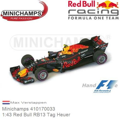 Modellauto 1:43 Red Bull RB13 Tag Heuer | Max Verstappen (Minichamps 410170033)