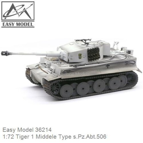1:72 Tiger 1 Middele Type s.Pz.Abt.506 (Easy Model 36214)