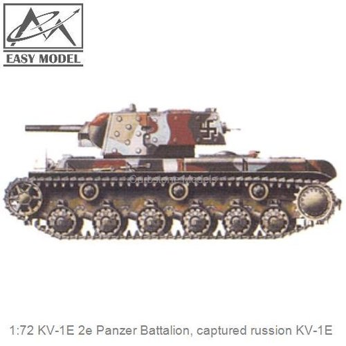 1:72 KV-1E 2e Panzer Battalion, captured russion KV-1E (Easy Model 36280)