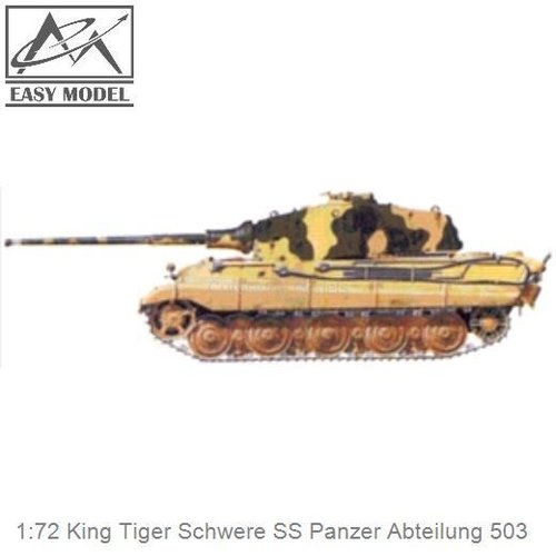 1:72 King Tiger Schwere SS Panzer Abteilung 503 (Easy Model 36296)