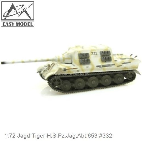 1:72 Jagd Tiger H.S.Pz.Jäg.Abt.653 #332 (Easy Model 36107)