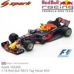 Modellauto 1:18 Red Bull RB13 Tag Heuer #33 | Max Verstappen (Spark 18S305)