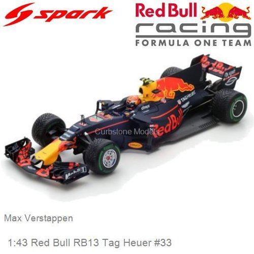 Modelcar 1:43 Red Bull RB13 Tag Heuer #33 | Max Verstappen (Spark S5037)