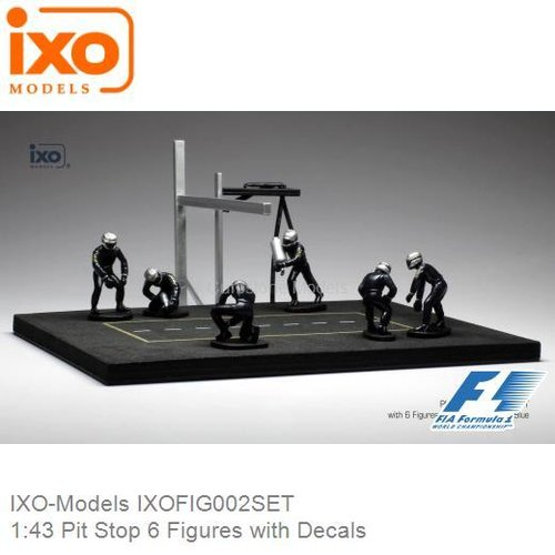 1:43 Pit Stop 6 Figures with Decals (IXO-Models IXOFIG002SET)