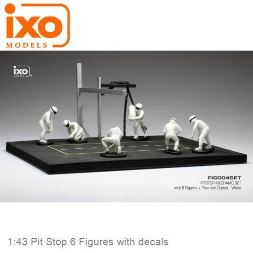 1:43 Pit Stop 6 Figures with decals (IXO-Models IXOFIG004SET)