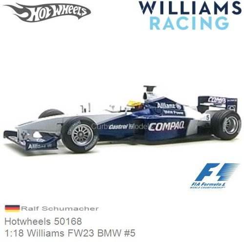 Modellauto 1:18 Williams FW23 BMW #5 | Ralf Schumacher (Hotwheels 50168)