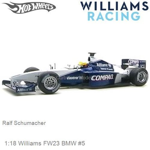 Modelauto 1:18 Williams FW23 BMW #5 | Ralf Schumacher (Hotwheels 50168)