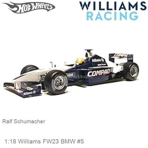 Modelcar 1:18 Williams FW23 BMW #5 | Ralf Schumacher (Hotwheels 50200)