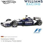 Modellauto 1:18 Williams FW24 BMW | Ralf Schumacher (Hotwheels 54624)