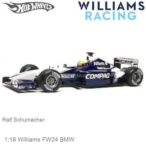 Modelcar 1:18 Williams FW24 BMW | Ralf Schumacher (Hotwheels 54624)