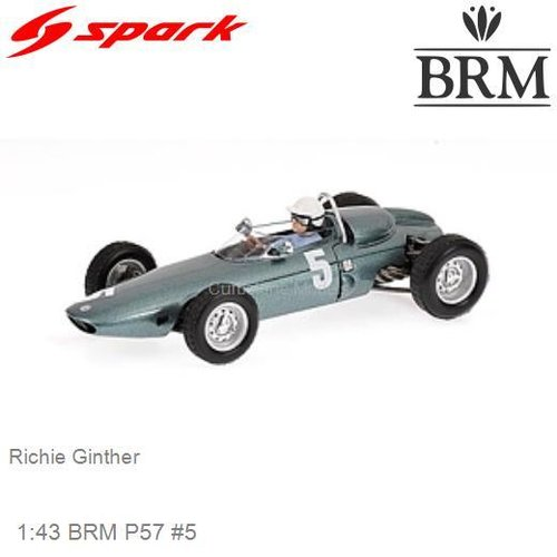 Modelauto 1:43 BRM P57 #5 | Richie Ginther (Spark S1629)