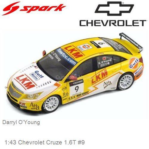 1:43 Chevrolet Cruze 1.6T #9 | Darryl O'Young (S2450)