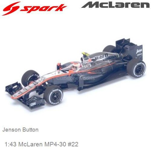 Modelauto 1:43 McLaren MP4-30 #22 | Jenson Button (Spark S4614)
