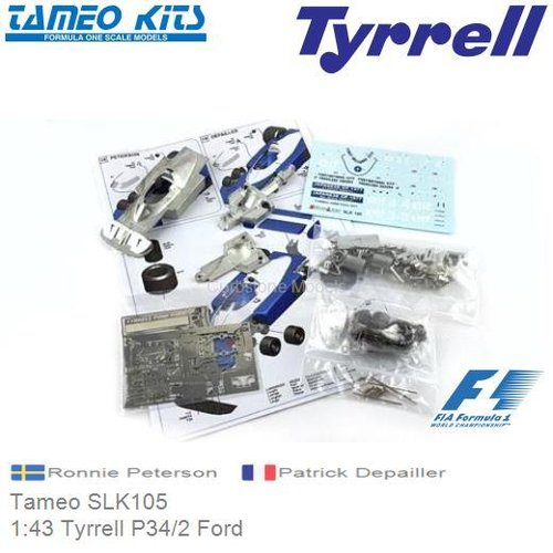 Modelauto 1:43 Tyrrell P34/2 Ford | Ronnie Peterson (Tameo SLK105)