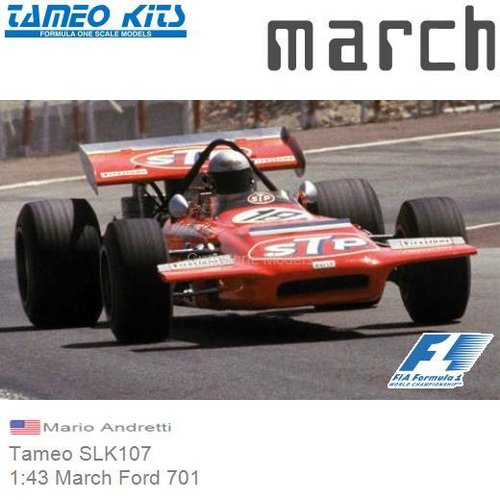 Bouwpakket 1:43 March Ford 701 | Mario Andretti (Tameo SLK107)