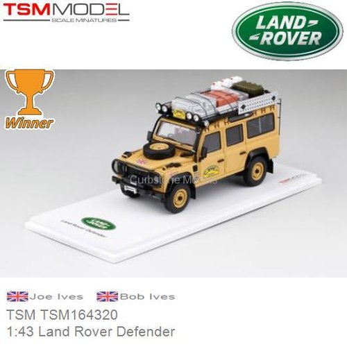 Modellauto 1:43 Land Rover Defender | Joe Ives  (TSM TSM164320)