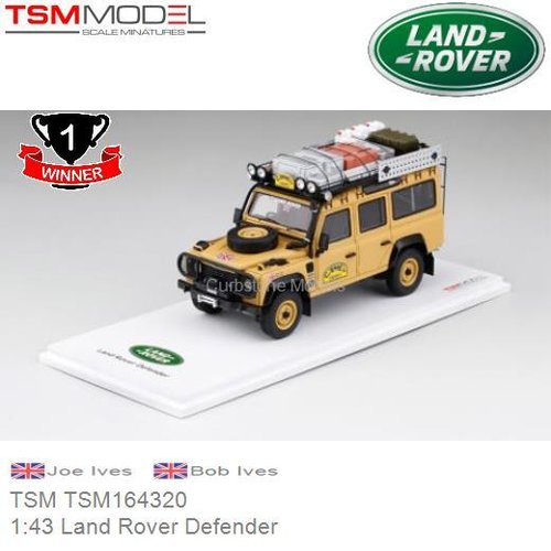 Modelauto 1:43 Land Rover Defender | Joe Ives  (TSM TSM164320)