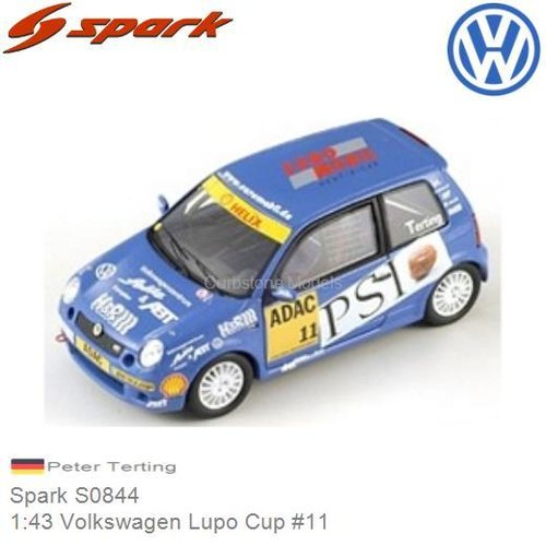 Modelauto 1:43 Volkswagen Lupo Cup #11 | Peter Terting (Spark S0844)