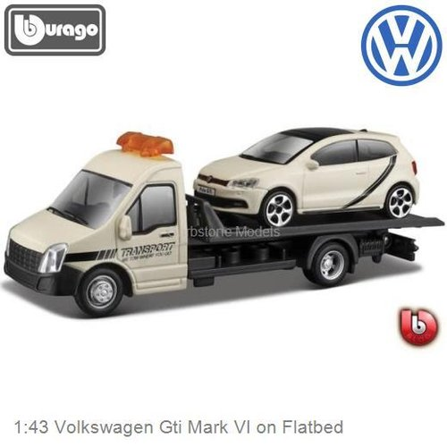 1:43 Volkswagen Gti Mark VI on Flatbed (Bburago 18-31403)