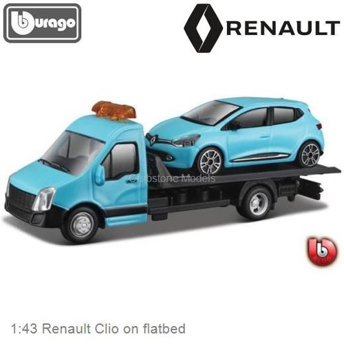 1:43 Renault Clio on flatbed (Bburago 18-31401)