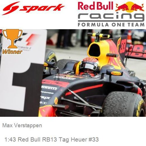 Modelcar 1:43 Red Bull RB13 Tag Heuer #33 | Max Verstappen (Spark S5050)