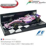Modelauto 1:43 Force India VJM11 Mercedes #31 | Esteban Ocon (Minichamps 417180031)
