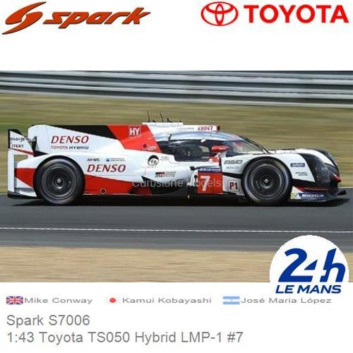 Modelauto 1:43 Toyota TS050 Hybrid LMP-1 #7 | Mike Conway (Spark S7006)