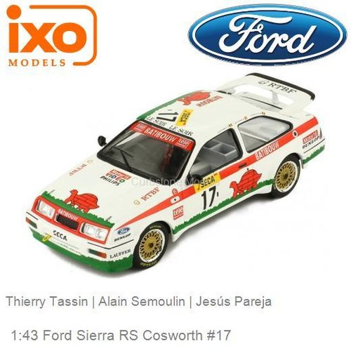 Modelauto 1:43 Ford Sierra RS Cosworth #17 | Thierry Tassin (IXO-Models GTM137)