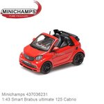 Modellauto 1:43 Smart Brabus ultimate 125 Cabrio (Minichamps 437036231)